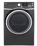 "GFD45ESPKDG 27"" GE 7.5 Cu. Ft. Capacity Electric Frontload Dryer with Sanitize Cycle and Quick Dry - Diamond Gray"