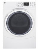 "GFD45ESSKWW 27"" GE 7.5 Cu. Ft. Capacity Electric Frontload Dryer with Sanitize Cycle and Quick Dry - White"