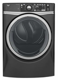 "GFD48ESPKDG 28"" GE 8.3 Cu. Ft. Capacity Front Load Electric Dryer with Sanitize Cycle and Steam Refresh - Diamond Gray"