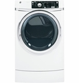 GFDR270EHWW GE� 8.1 cu. ft. Capacity RightHeight� Design Front Load Electric Dryer with Steam - White