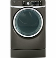 GFDR485EFMC GE 8.3 cu. ft. Capacity Front Load Electric Dryer with Steam & Built-in Riser (Pedestal) - Metallic Carbon