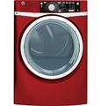 GFDS265EFRR GE 8.1 cu. ft. Capacity Front Load Electric Dryer with Steam - Ruby Red