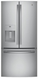 "GFE24JSKSS GE 33"" 23.8 Cu. Ft. French Door Refrigerator with Exterior Ice & Water - Stainless Steel"