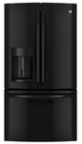 GFE26GGHBB GE Energy Star 25.7 Cu. Ft. French-Door Ice & Water Refrigerator - Black