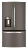 GFE27GMDES GE 26.7 Cu. Ft. French-Door Ice & Water Refrigerator - Slate