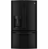 GFE28HGHBB GE Energy Star 27.7 Cu. Ft. French-Door Ice & Water Refrigerator - Black