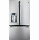 GFE29HSDSS GE Energy Star 29 Cu. Ft. French-Door Ice & Water Refrigerator - Stainless Steel