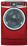 GFWR4805FRR GE 4.8 DOE Cu. Ft. Capacity Front Load Washer with Built-in Riser (Pedestal) - Ruby Red