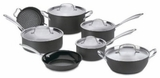 GG12 Cuisinart GreenGourmet Hard-Anodized Nonstick 12-Piece Cookware Set