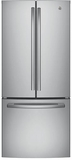 "GNE21FSKSS GE 30"" Energy Star 20.8 Cu. Ft. French-Door Refrigerator with Factory-Installed Icemaker - Stainless Steel"