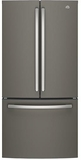 "GNE25JMKES GE 33"" French Door 24.8 Cu. Ft. Refrigerator with Internal Water Dispenser - Slate"