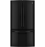 GNE29GGHBB GE Energy Star 28.5 Cu. Ft. French-Door Refrigerator - Black