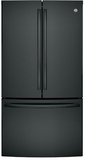 "GNE29GGKBB GE 36"" French Door Door 28.5 Cu. Ft. French Door Refrigerator with TwinChill Evaporators - Black"