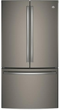 "GNE29GMKES GE 36"" French Door Door 28.5 Cu. Ft. French Door Refrigerator with TwinChill Evaporators - Slate"