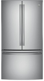 "GNE29GSKSS GE 36"" French Door Door 28.5 Cu. Ft. French Door Refrigerator with TwinChill Evaporators - Stainless Steel"