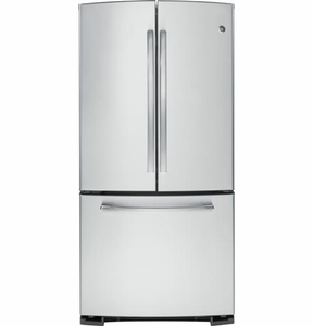 GNS22ESESS GE 22.1 Cu. Ft. Bottom Freezer French Door Refrigerator with Icemaker - Stainless Steel
