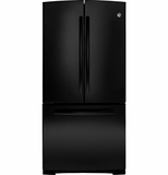 GNS23GGHBB GE 22.7 Cu. Ft. French-Door Refrigerator with Internal Water Dispenser - Black