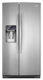 GSC25C6EYY Whirlpool Gold Counter Depth Side-by-Side Refrigerator - Monochromatic Stainless Steel