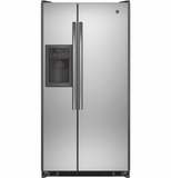 GSE22ESHSS GE Energy Star 21.8 Cu. Ft. Side-By-Side Refrigerator with Gallon Door Bins - Stainless Steel