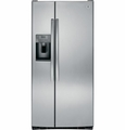 GSE23GSESS GE ENERGY STAR 23.1 Cu. Ft. Side-By-Side Refrigerator with Dispenser - Stainless Steel