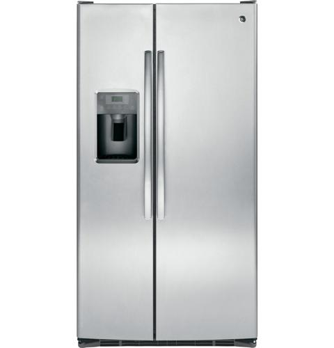 GSE25GSHSS GE Energy Star 25.4 Cu. Ft. Side-By-Side Refrigerator with Arctica Ice Maker - Stainless Steel
