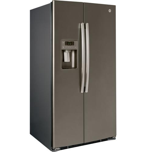 GSE25HMHES GE Energy Star 25.4 Cu. Ft. Side-By-Side Refrigerator with ...