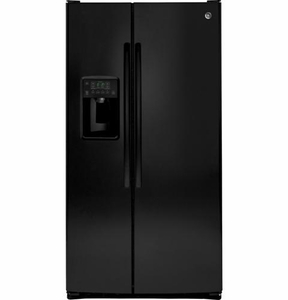 GSE26GGEBB GE ENERGY STAR 25.9 Cu. Ft. Side-By-Side Refrigerator with Dispenser - Black