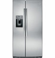 GSE26HSESS GE 25.9 Cu. Ft. Side by Side Refrigerator with Dispenser - Stainless Steel