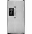 GSL25JGDLS GE Energy Star 25.3 Cu. Ft. Side by Side Refrigerator with Dispenser & Advanced Filtration - Clean Steel