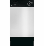 "GSM1860FSS GE Spacemaker 18"" Built-in Dishwasher with Removable Upper Rack - Stainless Steel"