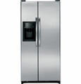 GSS20GSDSS GE 20.0 Cu. Ft. Side by Side Refrigerator with Dispenser & Gallon Door Bins - Stainless Steel