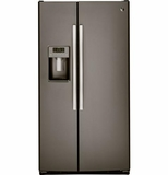 "GSS25GMHES GE 25.4 Cu. Ft. Side-By-Side 36"" Wide Refrigerator with Artica Icemaker - Slate"