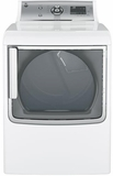 GTD81ESSJWS GE 7.8 Cu. Ft. Capacity Electric Dryer with Clean Speak Communication System - White
