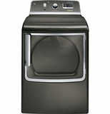 GTDS855EDMC GE 7.8 cu. ft. Capacity Electric Dryer with Stainless Steel Drum and Steam - Metallic Carbon