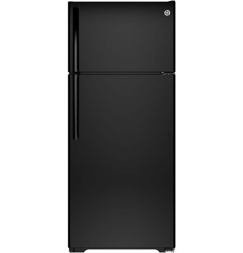 GTE18GTHBB GE Energy Star 17.5 Cu. Ft. Top-Freezer Refrigerator with Upfront Temp Controls - Black