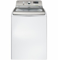 GTWS8350HWS GE 5.0 Cu. Ft. Capacity Washer with Stainless Steel Basket & Steam - White