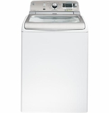 GTWS8650DWS GE 5.0 DOE cu. ft. Capacity Washer with Stainless Steel Basket and Steam - White