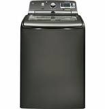 GTWS8655DMC GE 5.0 DOE Cu. Ft. Capacity Washer with Stainless Steel Basket and Steam - Metallic Carbon