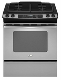 GW397LXUS Whirlpool 30-Inch Slide-In Gas Range - Stainless Steel
