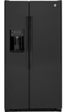 GZS22DGJBB GE 21.9 Cu. Ft. Counter Depth Side-By-Side Refrigerator - Black