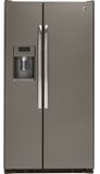 GZS22DMJES GE 21.9 Cu. Ft. Counter Depth Side-By-Side Refrigerator - Slate