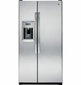 GZS23HSESS GE 22.7 Cu. Ft. Counter-Depth Side-By-Side Refrigerator with Dispenser - Stainless Steel