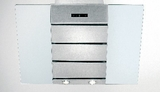 "H4536SS Elitair 36"" Wall Mounted Range Hood with 600 CFM Blower - Stainless Steel & Glass"