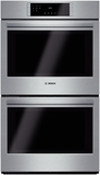 "HBL8651UC Bosch 800 Series 30"" Double Electric Wall Oven with European Convection - Stainless Steel"