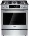 "HDI8054U Bosch 30"" Dual Fuel Slide-in Range 800 Series - Stainless Steel"