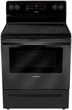 "HES3063U Bosch 30"" Evolution 300 Series Freestanding Electric Range - Black"