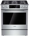 "HGI8054UC Bosch 30"" Gas Slide-in Range 800 Series - Stainless Steel"
