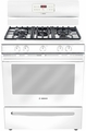 HGS3023UC Bosch Evolution 300 Series Freestanding Gas Range - White