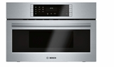 "HMC80252UC 30"" Bosch 800 Series Built-In Convection Microwave Oven with SpeedChef Cooking Cycles and LED Lighting - Stainless Steel"
