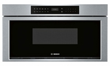 "HMD8053UC 30"" Bosch 800 Series Built-In Microwave with 385 Glass Touch Controls and Interior Light - Stainless Steel"